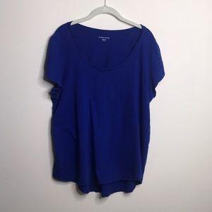 Eileen fisher Blue T-shirt GUC xl distressed
